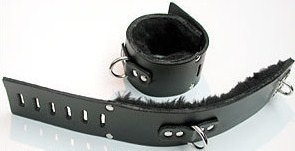 Fleece Lined Ankle Cuffs w/ D-Ring, Small