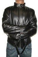 Premium Leather Straitjacket, Black, Large