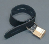 Locking Leather Cock Band, Black