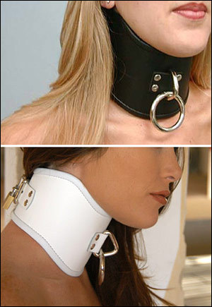 White Tall Curved Posture Collar, Medium