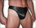 Male Leather Thong, Large