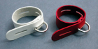 Locking Leather Cock Band, White