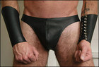 Leather Thong, Perforated, Small