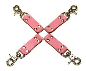 Leather Hog Tie, Pink