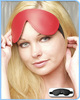 KinkLab Padded Leather Blindfold, Red
