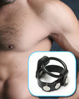 Ball Splitting Cock Ring Harness Black Rubber