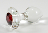 Crystal Delights Jet Glass Anal Plug (small)