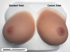 Real Breast Size 4 (approx. D cup) - Tan Skin Tone