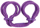 Japanese Silk Love Rope Wrist Cuffs Purple Sex Toy Product