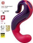 DeLight Luxury Vibrator - Violet and India Red