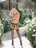 Verona Black Garter Belt Pantyhose