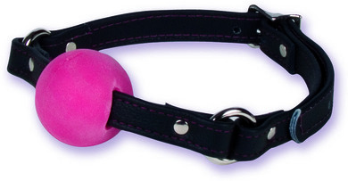 Black Leather Rubber Ball Gag