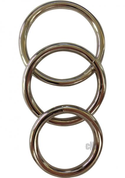 Sportsheets Metal O-Ring 3 Pack Nickel-free Rings Sex Toy Product