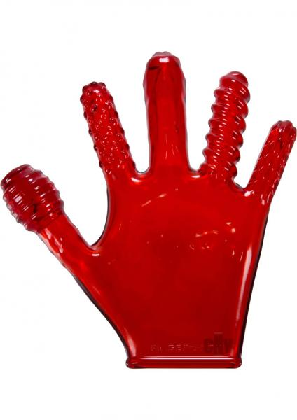 Finger F*ck Glove Red Sex Toy Product