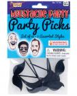 Mustache Party Party Picks Black Sex Toy Product