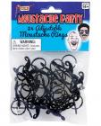 Mustache Party Adjustable Mustache Ring Black 24 Pack  Sex Toy Product