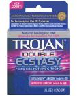 Trojan Double Ecstasy Condom - Box Of 3 Sex Toy Product