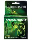 Anacondom Large Latex Condoms 3 Box  Sex Toy Product