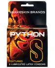 Python S Textured Latex Condoms 3 Box  Sex Toy Product