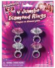 Bachelorette Party Outta Control Jumbo Diamond Ring 4 Pack