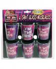 Bachelorette Shot Glass Necklaces Asst 6 Pack