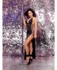 Stretch Jersey Halter Dress Lace Up Ties Black O/S Sex Toy Product