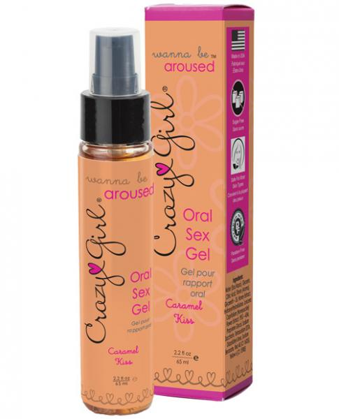 Crazy Girl Wanna Be Aroused Oral Sex Gel Caramel Kiss 2.2oz  Sex Toy Product