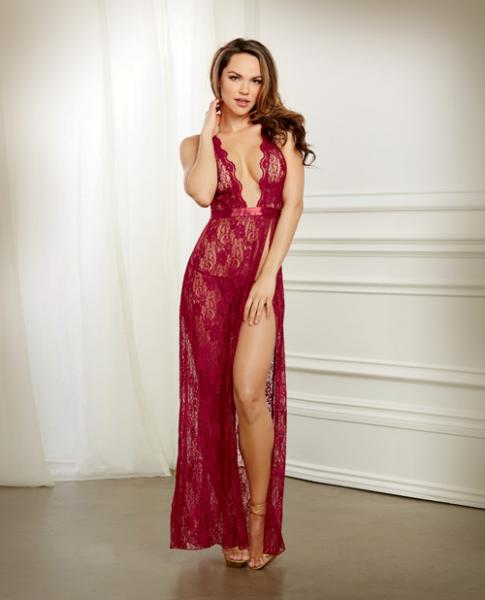 Holiday Lace Gown & G-String Garnet Medium Sex Toy Product