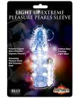 Pulsating Pearl Light Up Vibrating Pleasure Sleeve - Blue Sex Toy Product