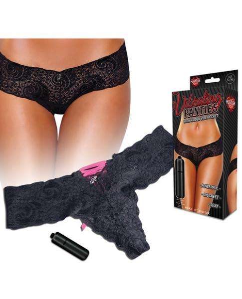 Hustler Vibrating Panties with Bullet Black M/L Sex Toy Product