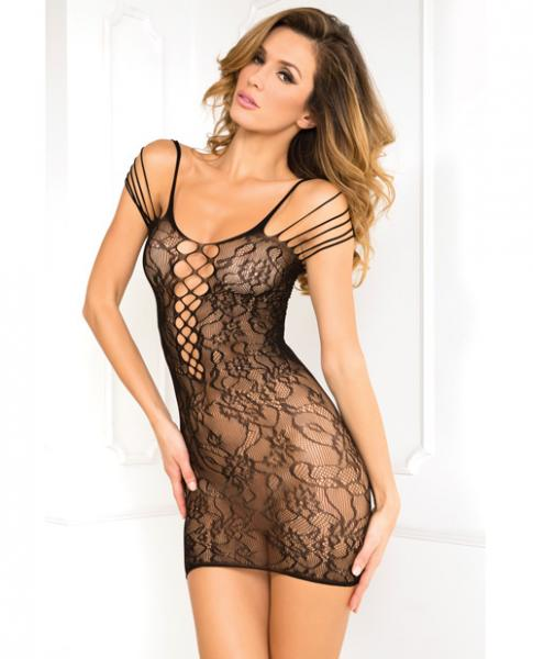 Off The Hook Lace Dress Black O/S Sex Toy Product