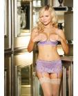 Stretch Lace Shelf Bra Wired Demi Cup Lilac 36