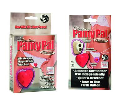 Vibrating Panty Pal - Heart - Red