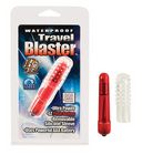 Waterproof travel blaster with silicone sleeve, red