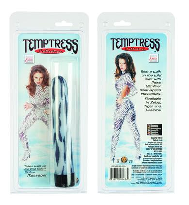 Temptress Collection Vibrator - Zebra