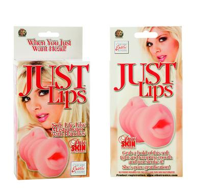 Just lips - soft life like masturbator w/handles