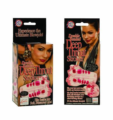 Double Beaded Deep Throat Stroker