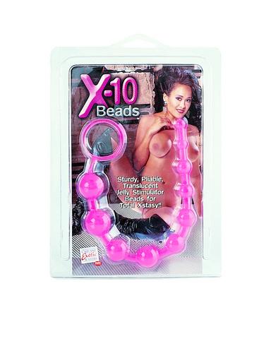 X 10 Beads Graduated Anal Beads 11 Inch
