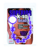 Silicone x-10 beads - purple
