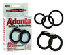 Adonis leather collection helios 3 interchageable rings