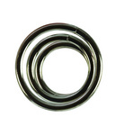 Metal rings 3 pack (sm, md, lg) - silver