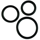 Rubber ring 3 pack (sm,md,lg) - black
