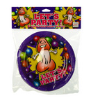 Let's party! happy penis party plates - small 7in