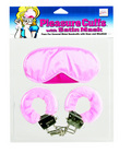 Pleasure Cuffs with Satin Mask Sex Toy Product