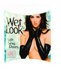 Wet look soft sexy gloves black o/s