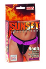 Sunset Collection Ruffled Crotchless G-String