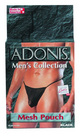 Adonis Men's Mesh Pouch -Black