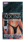 Mens adonis mesh thong black o/s