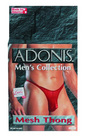 Mens adonis mesh thong red o/s