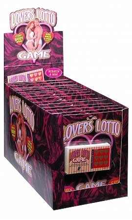 Lovers lotto scratch ticket game - pack of 12 cards